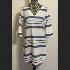 Nightshirt style dress that's very flattering Striped nautical cotton dress with three-quarter length sleeves H&M Dresses