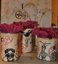 I am... Dreaming of Castles: Steampunk Altered Tins - Cute gift bag ideas