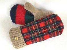 Your place to buy and sell all things handmade Sweater Mittens, Wool Sweaters, Felted Wool, Wool Felt, Recycled Sweaters, What To Make, Refashion, Diy Fashion, Wearable Art