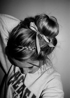 So cute! Bun Hairstyles