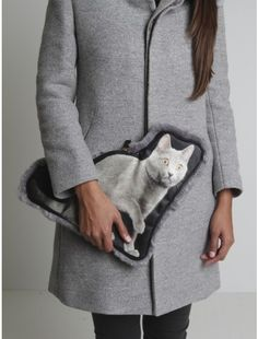 Cat print bag by UNDERCOVER