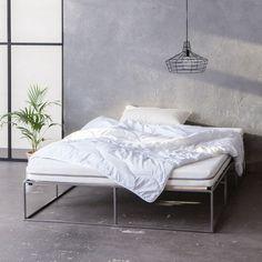 Metallbett - Stahlbett - metal bed - minimalistisch - Industriedesign - industrial design - monoqi