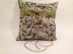 Digital Camo Wedding Ring Bearer Pillow -Camo Print - Camo Bling - Camo Wedding - Lime Green And Bling Camo Pillow-Wedding-Decoration Camo Wedding Rings, Ring Bearer Pillows, Digital Camo, Camo Print, Outdoor Blanket, Bling, Wedding Ideas, Unique Jewelry, Handmade Gifts