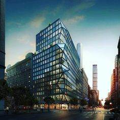 """The New York office of Dutch firm OMA has proposed an apartment building with a """"prismatic"""" corner for Manhattan.  Check out our architecture jobs at highlinerecruitment.com  #architecture #design #insta #newyork #usa #nyc #manhattan #picoftheday #instapic #photo"""