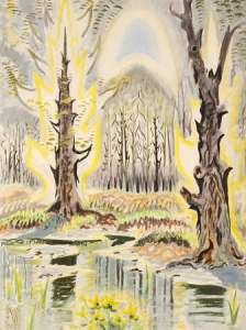 Charles Burchfield, Glory of Spring (Radiant Spring), 1950  Watercolor on paper