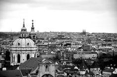 View from Prague Castle of February, 2009 Prague Old Town, Prague Castle, My Adventure Book, Paris Skyline, Taj Mahal, Beautiful Places, To Go, Prague Czech, London