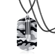 JC Fashion Jewelry Cross Pendant Chain Necklace Stainless Steel Imitation Diamond Necklaces for Men Women