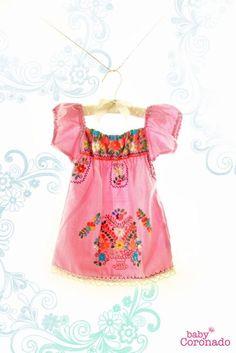 Cet article n'est pas disponible | 1000 Baby Dress, Pink Dress, Little Girl Dresses, Flower Girl Dresses, Mexican Embroidered Dress, Mexican Embroidery, Mexican Dresses, Little Fashionista, My Baby Girl