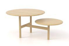 LilyPad by Oxyo est une table basse composée d'un plateau circulaire et de son satellite réunis par une structure en T, délicatement sculptée dans du bois massif grâce à une commande numérique. Chaque pièce révèle, dans la finesse du dessin, la sensualité du matériau.