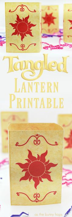 Now you'll see the light with this Tangled Lantern Printable! Includes two sizes and full instructions to make your own!
