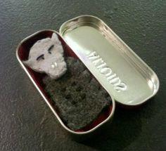 Nosferatu Finger Puppet (In an Altoid Tin Coffin)   Black Mood Craft