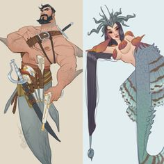 Collection of Mermay 2017 Character Concept, Character Art, Concept Art, Comic Kunst, Comic Art, Fantasy Kunst, Fantasy Art, Character Illustration, Illustration Art