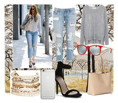 """Untitled #90"" by rosemakeupmode on Polyvore featuring Current/Elliott, Zara, Old Navy, Panacea, Native Union and Ray-Ban"