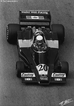 1977 Jody Scheckter , Wolf WR1.  South Africa's first world champion in F1