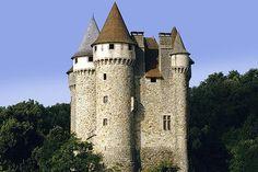 Picture of chateau de val limousin auvergne correze cantal massif central france stock photo, images and stock photography. Fantasy Castle, Fairytale Castle, Limousin, Castle Parts, Castle Pictures, Famous Castles, Beautiful Castles, Medieval Castle, Kirchen
