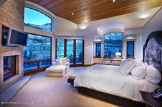 Check out the wood paneling on the ceiling! The natural lighting and view are phenomenal as well. http://blog.homes.com/2012/11/twilight-breaking-dawn-pt-2-inspired-luxury-homes/#