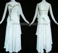 ballroom dance dress ~reminds me of an elf, like Galadriel, love this!~ needs something done with the back