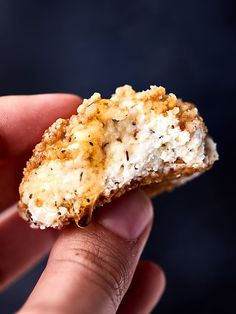 #ad Warm Walnut Goat Cheese Bites. Goat cheese mixed with honey and spices, rolled in crushed walnuts, and baked until warm!showmetheyummy.com Made in partnership w/ @CAWalnuts #goatcheese #appetizer