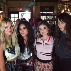 """""""Love these girls more than anything! Congrats to the whole #PLL family on another amazing season wrap!!! Let the hiatus begin!!! """""""