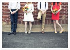 60's Mod Theme Wedding party | Photo: Emily G Photography