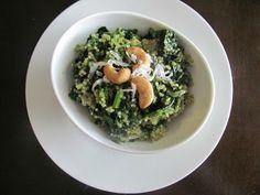 Veggie by Season: Coconut Quinoa and Kale Salad with Tropical Pesto