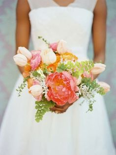 Wedding+Ideas:+pink-peony-tulip-fern-bouquet