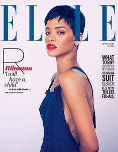 Elle Reino Unido Abril 2013 - Rihanna por Mariano Vivanco.