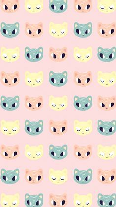 Cute Kitty Pattern ★ Find more epic #iPhone + #Android #Wallpapers and #Backgrounds at @prettywallpaper