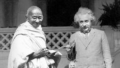 Mahatma Gandhi (left) and Albert Einstein.