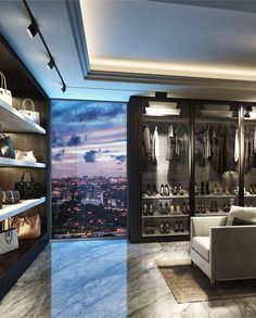 luxury walk-in closet #modern