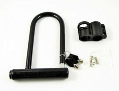 Heavy Duty Motorcycle Scooter Bike Bicycle Security U Lock Shackle   2 Keys *** Continue to the product at the image link.
