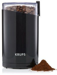Best Seller in Burr Coffee Grinders KRUPS Electric Coffee Grinder, Spice Grinder, Stainless Steel Blades, 3 Ounce, Black Best Coffee Grinder, Spice Grinder, Coffee Maker, Coffee Grinders, Coffee Shop, Pepper Grinder, Krups Coffee, Decoration Ikea, Ground Coffee Beans