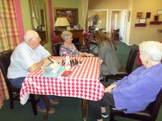 Nail Care compliments of Kindred Home Health! Ray Bolt, Frances Pinson, Kim Peterson and Shirley Fielder.