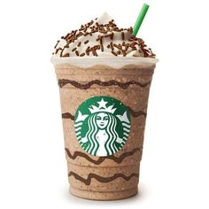 """Starbucks Brasil inova com o """"Brigadeiro Frappuccino ❤ liked on Polyvore featuring food, fillers, drinks, starbucks and food and drink"""