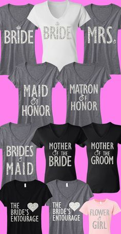 Pick any 7 BRIDAL/WEDDING #Wedding & #Bridal #Shirts and Receive 15% off #Bundle + FREE MRS #Tote -- By #NobullWomanApparel, for only $148.95! Click here to buy http://nobullwoman-apparel.com/collections/bridal-shirt-packages/products/bridal-wedding-7-shirts-15-off-bundle