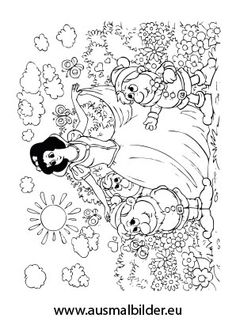 märchen ausmalbilder 10   schneewittchen und die sieben zwerge, ausmalen und malvorlagen