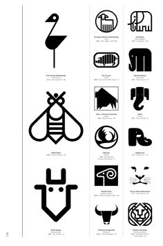 Modernist takes on figurist logo designs.