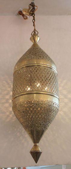 1stdibs.com | Large 4 Foot Brass Moroccan Lantern