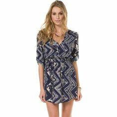 TRIBAL PRINTED SHIRT DRESS | Swell.com