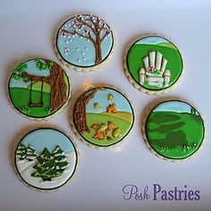 Christmas & Fall collection of iced cookies from Posh Pastries