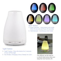 Amazon.com: InnoGear® 100ml Aromatherapy Essential Oil Diffuser Portable Ultrasonic Cool Mist Aroma Humidifier with Color LED Lights Changing and Waterless Auto Shut-off Function for Home Office Bedroom Room: Health & Personal Care