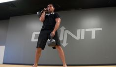 Double Kettlebell Strength & Power Workout   This kettlebell workout utilizes double kettlebell exercises for full body strength and power. The movements are broken down into multiple sets that allow you to focus your energy on one part of the body (upper, lower, and core) before finishing with a difficult 3 exercise circuit at the end.