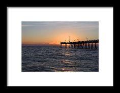 venice, beach, florida, sunset, silhouette, pier, nature, landscape, michiale schneider photography, interior design, framed art, wall art