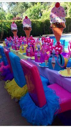New birthday ideas for her diy tutus Ideas Ice Cream Theme, Ice Cream Party, Ideas Decoracion Cumpleaños, Birthday Ideas For Her, Birthday Party Tables, Diy Birthday, Ice Cream Social, Candy Party, Childrens Party
