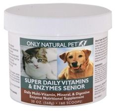 This helped my 11 year old dog feel younger!  Doctor even decreased her thyroid meds. Only Natural Pet Super Daily Vitamin Enzyme Senior for Dogs & Cats