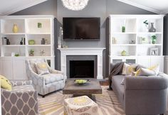 blue grey living room modern ideas grey living room with pops of soft color in yellow and green