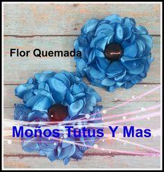 Como hacer FLOR QUEMADA DE TELA Paso a Paso BURNT FLOWER Tutorial DIY Ho...