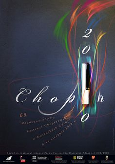 Winner poster for 65 International Chopin Piano Festival 2010 by Jagielo, via Flickr