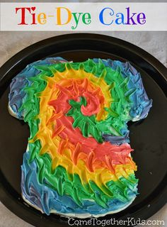 Tie Dye Cake DIY