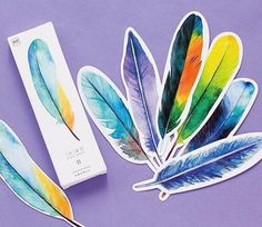 Box set of 30 on-trend feather bookmarks. Bookmarks are made of heavy paper. 4 cm x 15 cm each. By Momoka. Imported. FREE U.S. SHIPPING OVER $35, NO CODE NEEDED